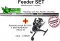 AKCIE Feeder 3,6m/80g + feeder baitrunerový navijak