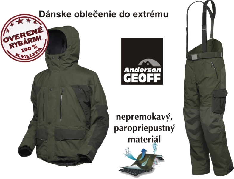 Set Geoff - bunda Dozer4 + nohavice Urus4 zelené - Rybárske ... 76986edb5a9