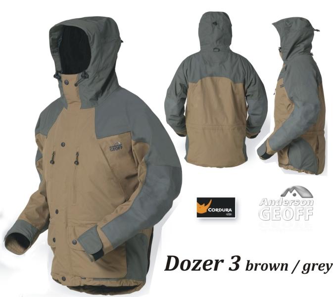 Bunda DOZER 3 Geoff Anderson hnedo šedá - Rybárske oblečenie - bundy ... 8afd946f937